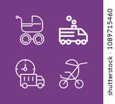 outline transport icon set such ... | Shutterstock .eps vector #1089715460