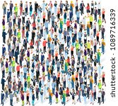people crowd. isometric vector... | Shutterstock .eps vector #1089716339