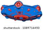 cartoon ufo isolated on white...   Shutterstock . vector #1089716450