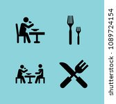 filled eating icon set such as... | Shutterstock .eps vector #1089724154