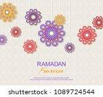 ramadan kareem concept... | Shutterstock .eps vector #1089724544