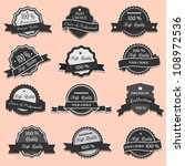 collection of premium quality... | Shutterstock .eps vector #108972536