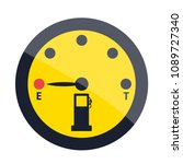 petrol is over signs in black... | Shutterstock .eps vector #1089727340