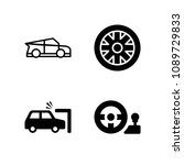 filled car icon set such as... | Shutterstock .eps vector #1089729833