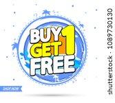 buy 1 get 1 free  summer sale... | Shutterstock .eps vector #1089730130
