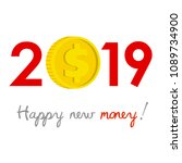 new year 2019 business concept. ... | Shutterstock .eps vector #1089734900