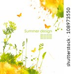 colorful hand drawn design from ... | Shutterstock . vector #108973550