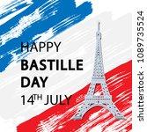 14 th of july. happy bastille... | Shutterstock .eps vector #1089735524
