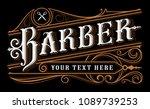 barber lettering design.... | Shutterstock .eps vector #1089739253