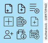 outline add icon set such as... | Shutterstock .eps vector #1089739460