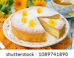 italian sweet cake torta... | Shutterstock . vector #1089741890