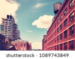 vintage stylized picture of old ... | Shutterstock . vector #1089743849