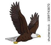 bald eagle isolated on white.... | Shutterstock .eps vector #1089743870