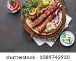 kebab. traditional middle... | Shutterstock . vector #1089743930