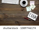 preparing for the exam. word... | Shutterstock . vector #1089746174