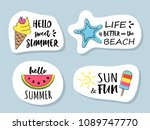 summertime   elements with... | Shutterstock .eps vector #1089747770