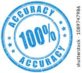 accuracy 100 guarantee vector... | Shutterstock .eps vector #1089747986
