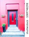 front door with steps in...   Shutterstock . vector #1089748298