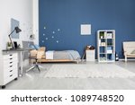 modern child room interior with ... | Shutterstock . vector #1089748520