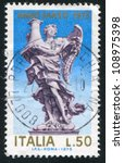 italy   circa 1975  stamp... | Shutterstock . vector #108975398