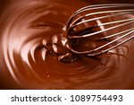 chocolate. mixing melted liquid ... | Shutterstock . vector #1089754493