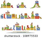 set of various fashion shoes... | Shutterstock .eps vector #108975533