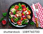 salad with fresh and grilled... | Shutterstock . vector #1089760700