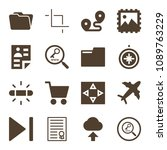 interface related set of 16... | Shutterstock .eps vector #1089763229