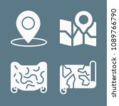 location icon set   filled... | Shutterstock .eps vector #1089766790