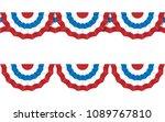 round bunting decoration  set...   Shutterstock . vector #1089767810
