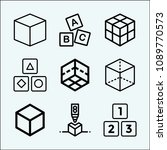 cube related set of 9 icons... | Shutterstock .eps vector #1089770573