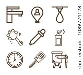 tool related set of 9 icons... | Shutterstock .eps vector #1089774128