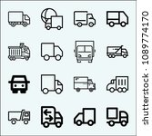 lorry related set of 16 icons...   Shutterstock .eps vector #1089774170