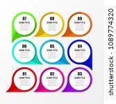 infographic design template.... | Shutterstock .eps vector #1089774320