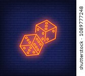 game dices night bright... | Shutterstock .eps vector #1089777248