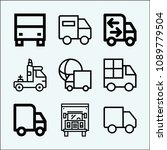 lorry related set of 9 icons...   Shutterstock .eps vector #1089779504