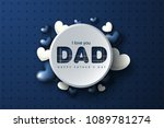 happy father's day greeting... | Shutterstock .eps vector #1089781274