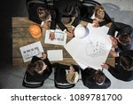 business people discuss... | Shutterstock . vector #1089781700