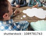 hipster business teamwork...   Shutterstock . vector #1089781763