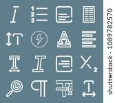 signs icon set   outline... | Shutterstock .eps vector #1089782570
