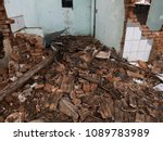 the old house being destroyed | Shutterstock . vector #1089783989