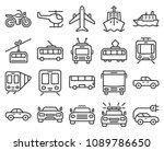 monochromatic line icons set of ... | Shutterstock .eps vector #1089786650