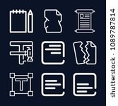 text icon set   outline... | Shutterstock .eps vector #1089787814
