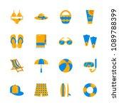 summer beach vacation... | Shutterstock .eps vector #1089788399