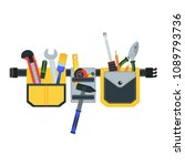 belt with tools.conceptual... | Shutterstock .eps vector #1089793736