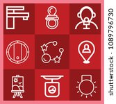 tool related set of 9 icons... | Shutterstock .eps vector #1089796730