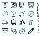 tool related set of 16 icons... | Shutterstock .eps vector #1089797660