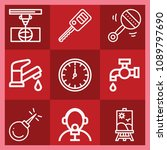 tool related set of 9 icons... | Shutterstock .eps vector #1089797690