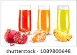 vector pineapple.mandarin... | Shutterstock .eps vector #1089800648