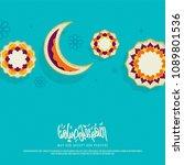 ramadan kareem creative banner... | Shutterstock .eps vector #1089801536